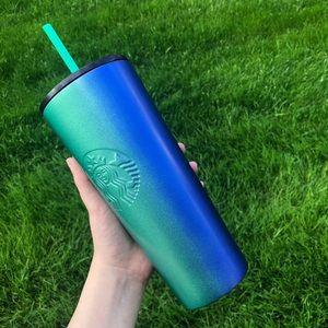 Starbucks Stainless Steel Blue Green Ombré Tumbler